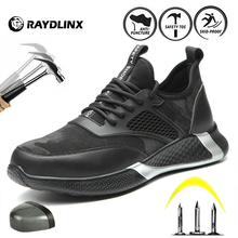RAYDLINX Men's Protective Shoes Anti-smash New electrician shoes Lightweight Breathable Industries Construction Work Shoes