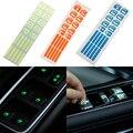 Светящиеся наклейки на окно автомобиля, кнопка, дверь, ночная безопасность, флуоресцентные наклейки, переключатель, автомобильная наклейка...