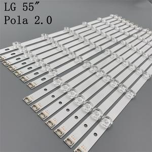 """Image 1 - 12 Lamps LED Backlight Strip For LG 55LA616V 55LA6200 55LA6205 55LA6208 55LA620S  ZA UA Bar Kit Television LED Band Pola 2.0 55"""""""