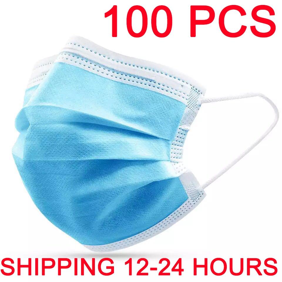 Mask Disposable 20pcs/50pcs/100pcs/200pcs Non wove 3 Layer Ply Filter Mask Mouth Face Mask Breathable Earloops Masks 1