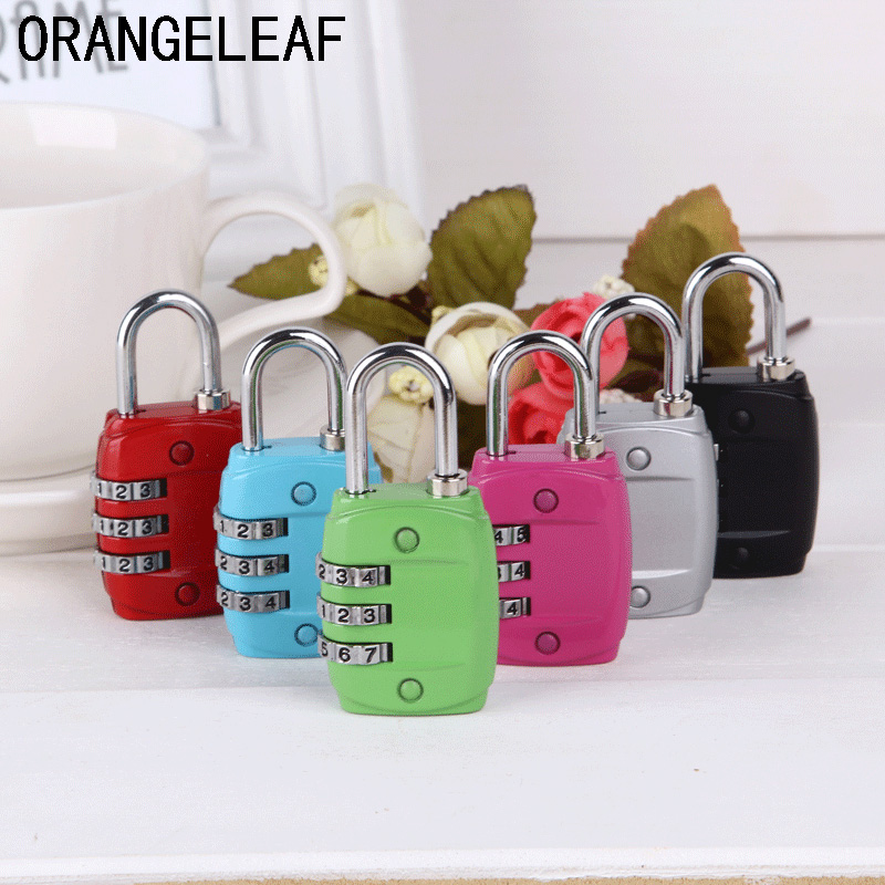 Travel Accessories Luggage Password Lock 3 Digit Combination Safe For Luggage Suitcase Code Lock