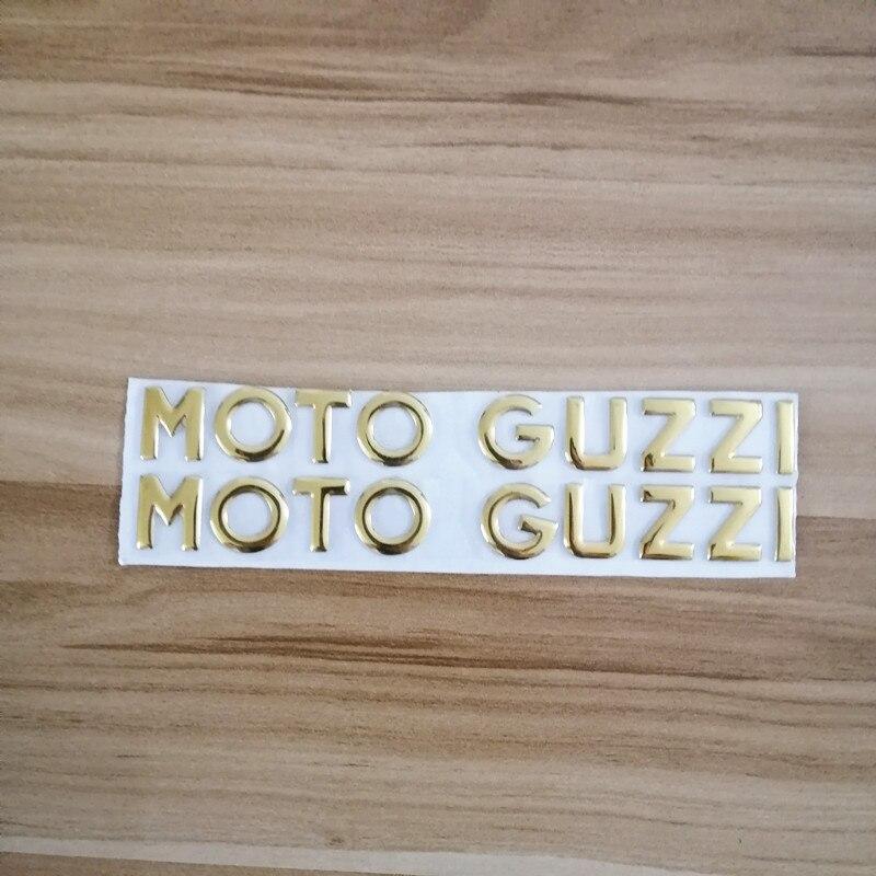 Motorcycle 3D Yellow Waterproof Emblem Side Fairing Cover Decorated Decals Case Sticker For Moto MotoGuzzi  Guzzi  Decals
