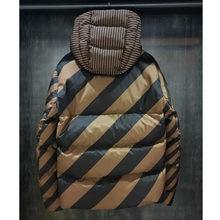 2021 zima modny luksusowy Design Hiqh jakości odwracalne 2 twarzy obie strony nosić Unisex dół kurtki z kapturem