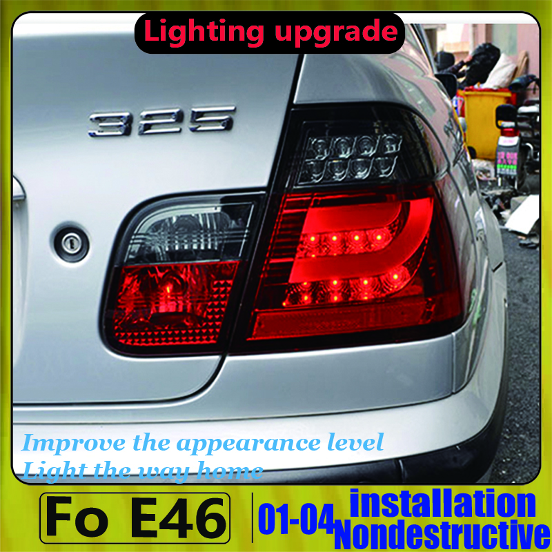 Led Rear Light For BMW E46 318 320 323 325 330CI 4 Door LED Strip Taillights Back Rear Lamp 2001 2002 2003 2004 Year