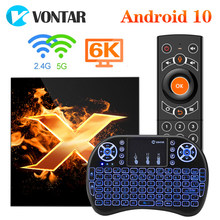 Vontar x1 caixa de tv andriod 10 tvbox 4gb 64gb 2.4g & 5g wifi ac 6k google assistente de voz 60fps bt5.0 youtube media player