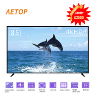 Free shipping 85 inch 4k hd explosion proof flat led android television smart tv with DVB T2/S2
