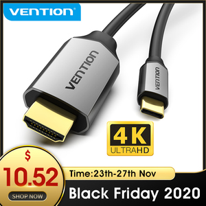 Image 1 - Câble USB C HDMI 4K Type C vers HDMI adaptateur Thunderbolt 3 pour Huawei P40 Mate 30 Pro MacBook Pro Air ipad câble usb c