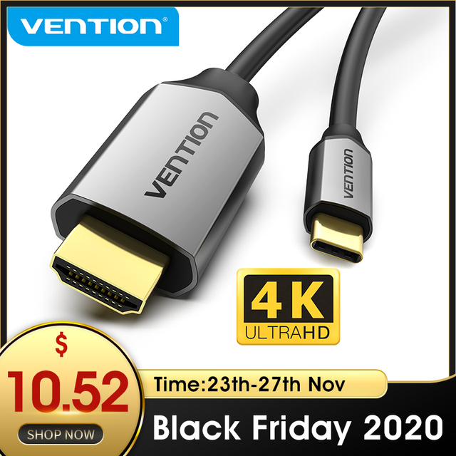 Câble USB C HDMI 4K Type C vers HDMI adaptateur Thunderbolt 3 pour Huawei P40 Mate 30 Pro MacBook Pro Air ipad câble usb c