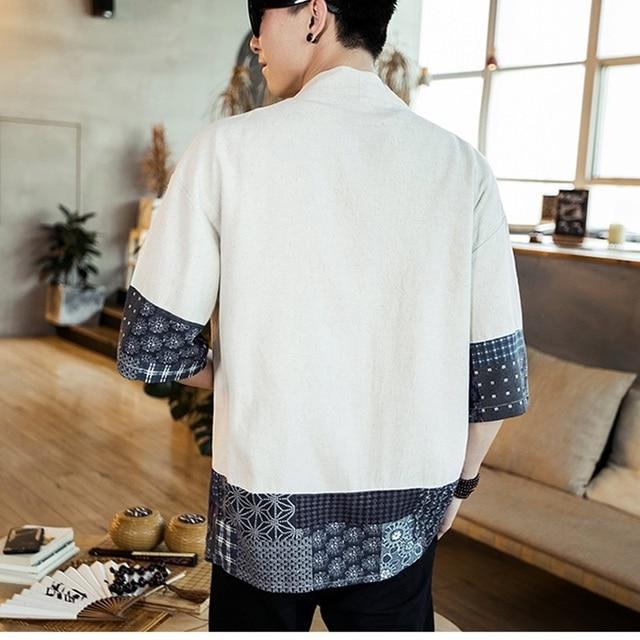 kimono blanc élégant