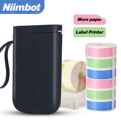 Black Color D11 Niimbot Label Printer Mini Bluetooth Wireless USB Printer use Thermal Color Paper