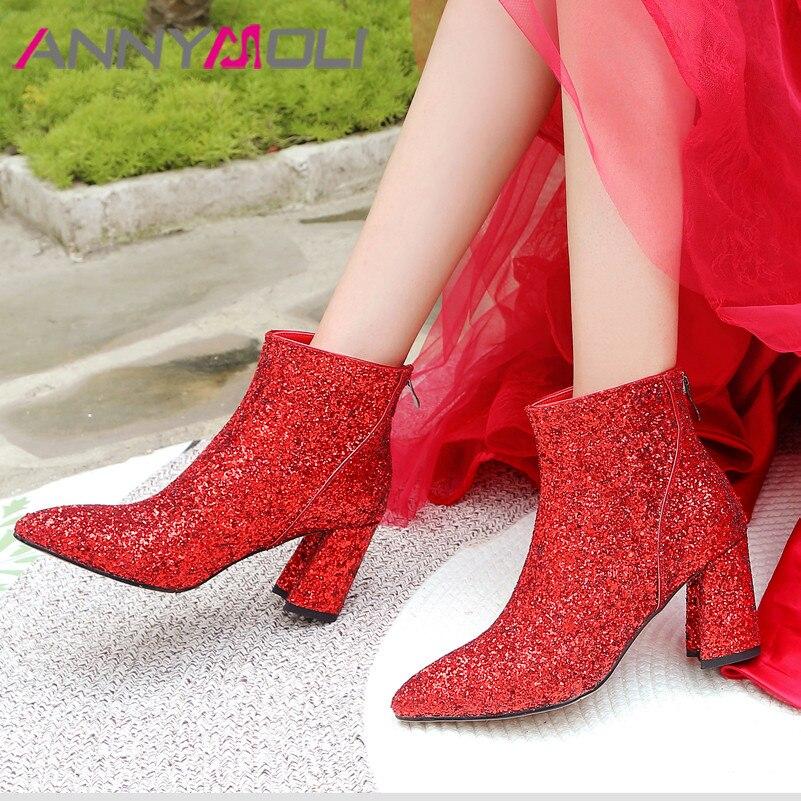 ANNYMOLI Autumn Ankle Boots Women