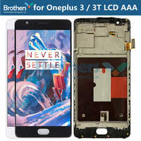 LCD Screen for Oneplus 3 3T LCD Display for Oneplus 3 3T A3000 Touch Screen Assembly With Frame Touch Digitizer TFT Screen Test