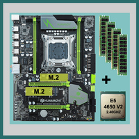 HUANANZHI X79 motherboard Pro com dual slot pacote de Desconto motherboard com CPU Intel Xeon E5 M.2 4650 V2 RAM 64G (4*16G) 1866