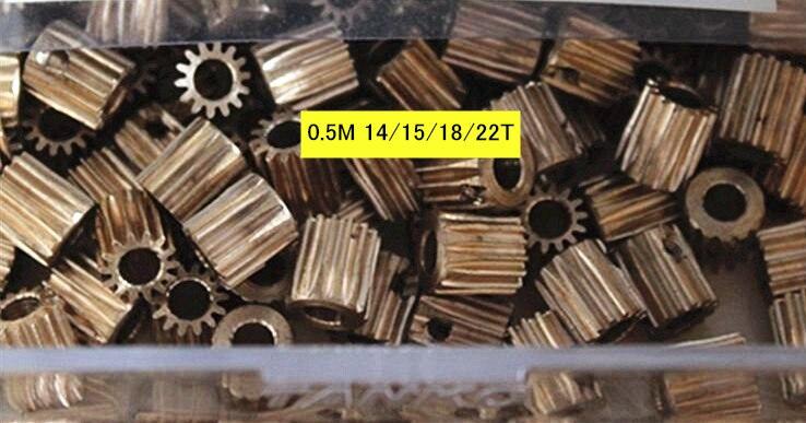 Copper Steel 0.5M 14T 4mm 15T 5mm 18T 4mm Gear 22T 5mm 6mm 6.35mm hole diameter spur gear