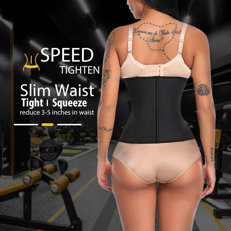Women Latex Waist Trainer Body Shaper Women Corsets Zipper Hooks Shaper Cincher Corset Top Slimming Belt Black Plus Size in Waist Cinchers from Underwear Sleepwears