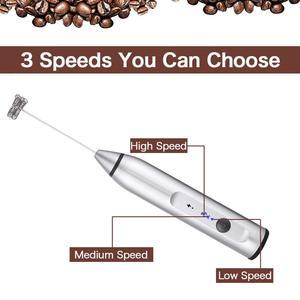 Image 3 - YAJIAO USB 3 Snelheden Elektrische Melkopschuimer Koffie Duurzaam Drink Mixer Oplaadbare met 2 Gardes Voor Handheld Schuim Maker Latte