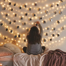 LED Christmas Photo Clip Style Fairy Light 10M 50clips Led String Wedding Natal Garland New Year Christmas Decorations for Home