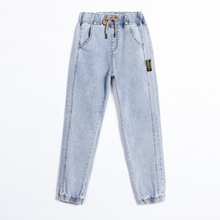 Retro Harlan Jeans 2021 Spring/summer New Women's Fashion Loose High Waist Stretch Slim Non-Fading Wear-Resistant Trousers