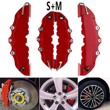 2/4pcs Brake Caliper Covers High Quality ABS Plastic Truck 3D Red Useful Car Universal Disc Front Rear Auto Kit