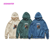 SODAWATER Girl Autumn Oversized Pullover Hoodies Women Casual Streetwear Character Printing Cotton Hooded Sweatshirt Tops 9616W