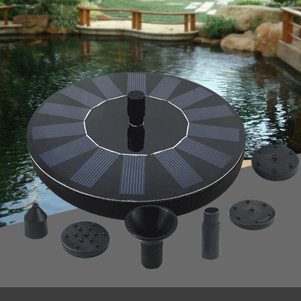 7V 200L/h 0.75mSolar Fountain Watering kit Power Solar Pump Pool Pond Submersible Waterfall Floating Solar Panel Water Fountain|Fountains & Bird Baths| |  - title=