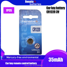 1 pçs/lote CR1220 Botão Célula de Bateria Para Relógio renata 100% Original Chave Remota Do Carro Bateria De Lítio cr 1220 ECR1220 GPCR1220 3v