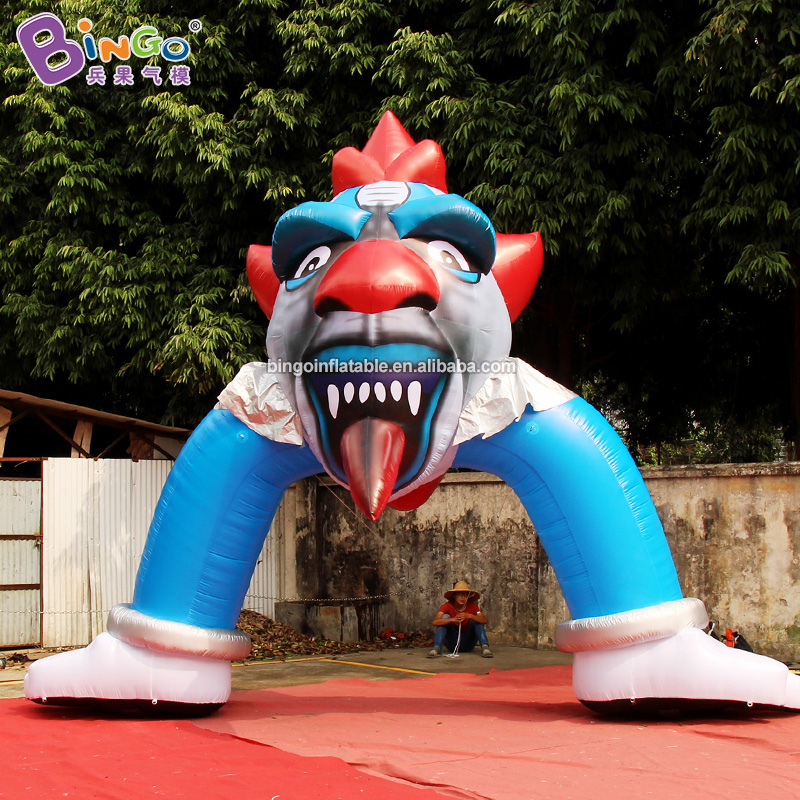 Customized 5X5 meters inflatable clown arch / halloween inflatable arch toys image