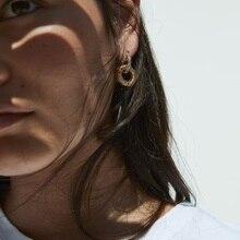 Lukeni Wedding Drop Earrings Women Boho Style Round Gold Crystal Dangle Earrings Fashion Jewelry 2019 Metal Earrings Wholesale цена и фото