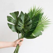 Plantes artificielles monstera en plastique, palmier tropical, feuilles, décoration pour la maison et le jardin, accessoires, photographie décorative, une pièce