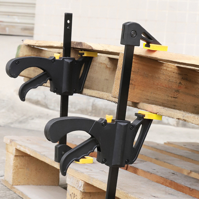 AI-ROAD 2/3/4/5/8Pcs New Woodworking Clamp Bar F Clip 4 Inch Quick Ratchet Wood Working DIY Carpenter Hand Tools 2
