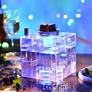 Acrylic Hookah Shisha Pipe Narguile Cachimba sisha Nargile Chicha with LED Light Hose Bowl Charcoal Holder Tongs Accessories