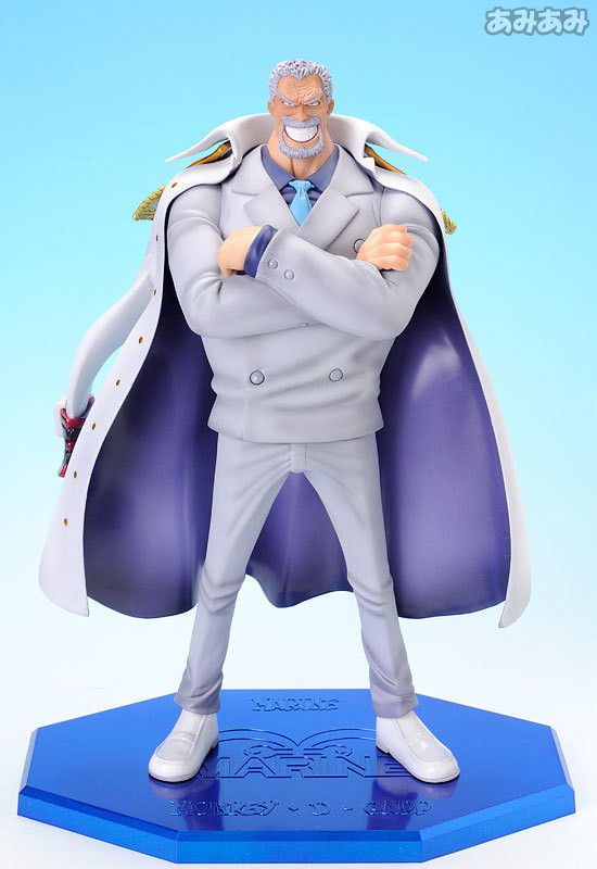 Anime One Piece Figures Vice Admiral Luffy Grandpa Monkey D Garp PVC Action Figure Toys Collection Christmas Gift Doll 25cm