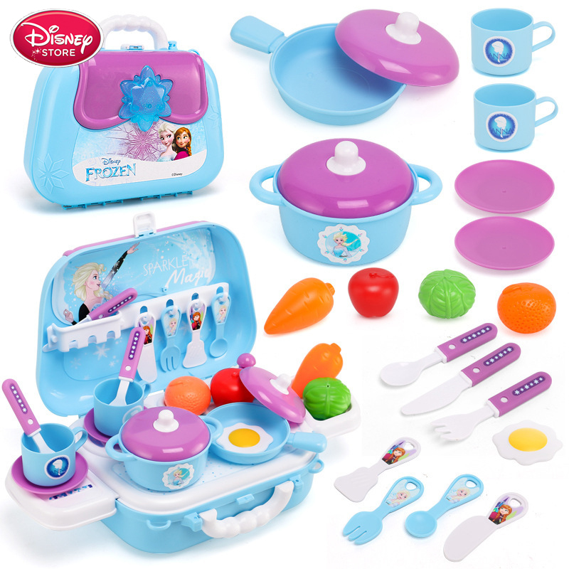 Disney Frozen Girls Toys Princess Frozen Dressing Make Up Toy Set Kids Makeup Disney Princess Elsa Toys Children's Toys
