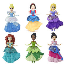 8.5 centímetros Clipes de Disney Princess Royal Cinderela Branca de Neve Tiana Mulan Rapunzel Boneca MagiClip Moda Toy Collectible Modelo Bonecas(China)