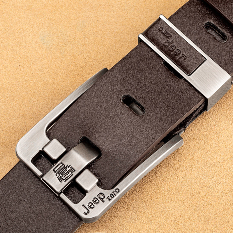 Brand Design Genuine Leather Belts For Men High Quality Metal Pin Buckle Vintage Belt Jeans 3.8cm Width Cinturones Para Hombre