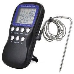 1Pc 2016 cyfrowy próbnik do żywności termometr piekarnika zegar czujnik temperatury gotowanie pieczenia w Wskaźniki temperatury od Dom i ogród na