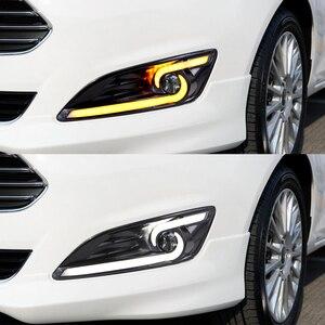 Image 5 - רכב מהבהב 1 זוג DRL לפורד פיאסטה 2013 2014 2015 2016 בשעות היום ריצת אורות ערפל ראש מנורת כיסוי רכב סטיילינג לבן אור יום