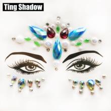3D Crystal Glitter Jewels Tattoo Sticker Women Fashion Body Gems Festival Gypsy Face gems face crystal Party Makeup