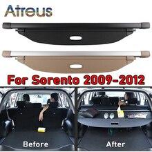 1set 트렁크 소포 선반 커버 Kia Sorento 2009 2010 2011 2012 개폐식 후면 랙 스페이서 커튼 액세서리