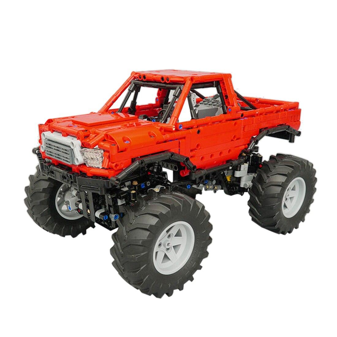 1660 pçs moc estático bigfoot escalada fora de estrada modelo de carro pequenos blocos de construção de partículas conjunto de brinquedos educativos