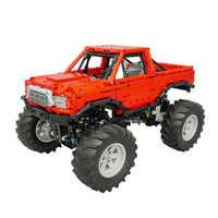 1660 sztuk MOC statyczne Bigfoot wspinaczka Off-samochód Model małe cząstki klocki edukacyjne zestaw zabawek