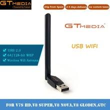 Gtmedia usb wifi antena dongle para gtmedia v7 mais v7s hd receptor de satélite wifi lan adaptador de qualidade wifi adaptador