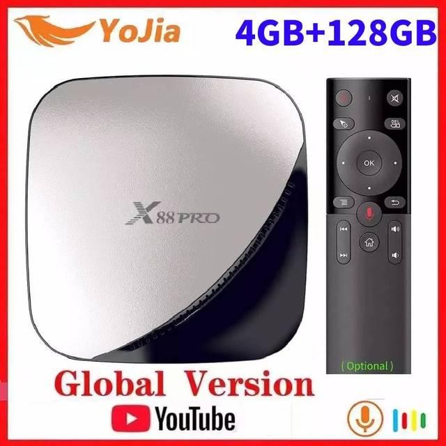 فونتار أندرويد 9.0 صندوق التلفزيون ماكس 4GB RAM 128GB ROM RK3318 4Core ثنائي واي فاي 2G16G مجموعة صندوق فوقي يوتيوب الذكية 4K مشغل الوسائط X88 برو