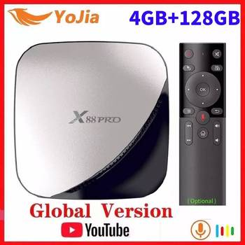 Vontar Android 9.0 TV Box Max 4GB RAM 128GB ROM RK3318 4Core Dual Wifi 2G16G Set Top Box YouTube Smart 4K Media Player X88 PRO