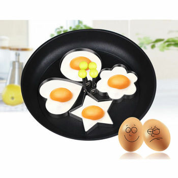 Fried Egg Pancake shaper Stainless Steel Pancake Mold Shaper Mould Mold Kitchen Rings Heart image
