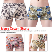 4 Pcs Boxer for Men Map Underwear Shorts Sexy Modal Fashion Comfortable Boxers Male Underpants Soft