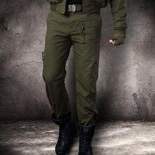 Pantalones de camuflaje para hombre, Pantalón Cargo, informal, holgado, con muchos bolsillos, militar, Corte recto, largos, Camuflaje, 2020