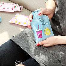 Cute Transparent Hot Water Bottle small Warm Belly Treasure Cartoon Hand Warmer Filled Explosion-proof Portable Hot Water Bags
