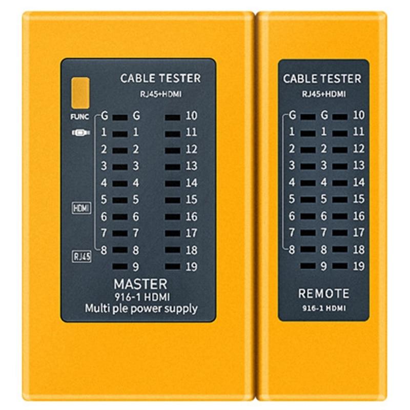 HDMI 高精細デジタルケーブルテスターポータブル RJ45 ケーブルテスタートラッカー
