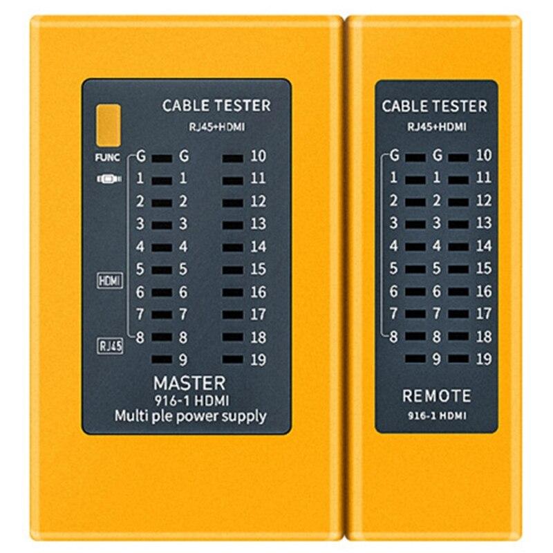 Kabel cyfrowy HDMI o wysokiej rozdzielczości przenośny Tester kabli RJ45 Tracker